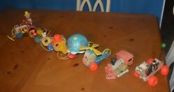 7 Pull Toys Lot Mega Deal Fisher Price Buy 6 And Receive The 7th One Free