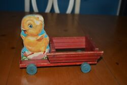 Fisher Price 407 Push / Pull Toy Baby Chick Cart No String