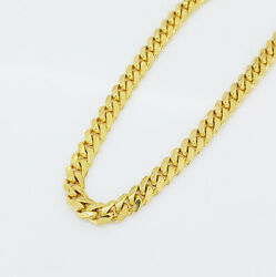 Menand039s Miami Cuban Solid 14k Italian Yellow Gold Chain 20 5 Mm Wide