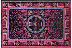 Hand-knotted William Morris Rug 6and039 1 X 9and039 1 - Q5949