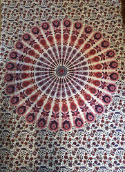 "Bohemian Wall Hanging Purple And Red 55"" X 70"""