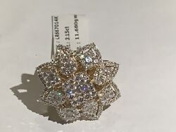 Vs Quality G-h Color 3.15ct Goldandnbspdiamond Ring With 12gm Gold