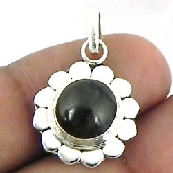 Solid 925 Sterling Silver Black Onyx Pendant Necklace Women Psv-1734