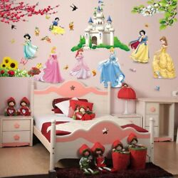 Beautiful snow white Princess Castle Wall Stickers For Girls Room Bedroom