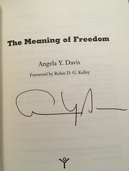 **Signed Angela Davis #x27;The Meaning of Freedom#x27; Softcover Book
