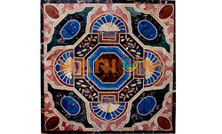 3and039x3and039 Marble Center Dining Table Top Lapis Mosaic Inlay Interior Home Decor B559