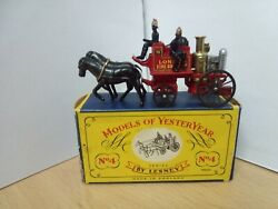 P81-models Of Yesteryear Y-4 Shand Mason Horse Drawn Fire Engine And Box