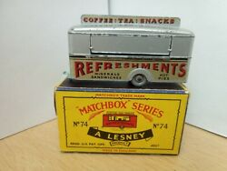 P91-rare Matchbox Lesney No74a Mobile Refreshments Canteen And Box.