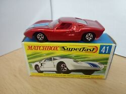 P96-matchbox Superfast Mb41-a Ford Gt And Box.