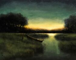 Into The Night     New Original Painting   Acrylic On Canvas   20x30