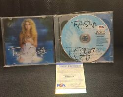 Taylor Swift Signed Taylor Swift Cd Deluxe Cd Our Song Psadna Authentic Ah48828