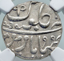 1829 Fe 1239 India British Old Bombay Presidency Silver Rupee Coin Ngc I86969