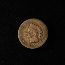 1859 1c Indian Head Cent Copper Nickel Us Type Coin