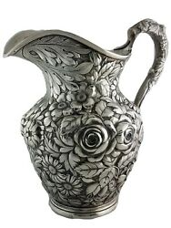 Rare Sterling Stieff Water Pitcher Stieff Rose Repousse No.310a 27.91ozt