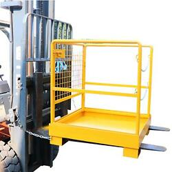 36x36 Forklift Safety Cage Heavy Duty Steel Collapsible Lift Aerial Basket