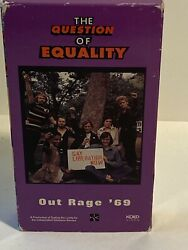 Lot Of 2 The Question Of Equality Out Rage '69/culture Wars Vhs Tape's
