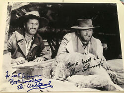 Clint Eastwood Eli Wallach Cast Signed Photo The Good Bad And The Ugly Uacc