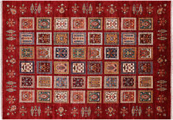 Tribal Gabbeh Hand Knotted Rug 5' 8 X 8' 1 - Q4940