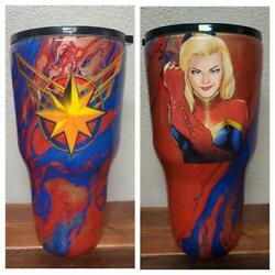 Captain Marvel Tumblers And Nerd Stein