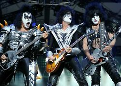 Art Print Poster , Canvas Rock Band Kiss In Concert