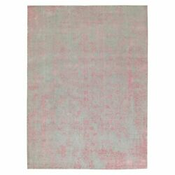 10and039x14and0391 Wool And Art Silk Transitional Design Hand Loomed Jacquard Rug R58581