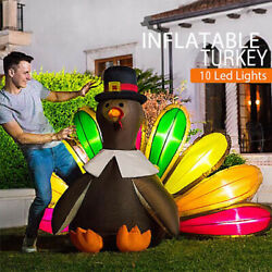 Vivohome 5x7 High Inflatable Turkey Led Airblown Thanksgiving Outdoor Yard Decor