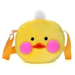 Cute Cartoon Little Plush Shoulder Bag Kawaii Crossbody Girls Round Phone Bag $13.26