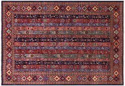 Gabbeh Shall Hand-knotted Rug 6and039 2 X 8and039 11 - Q5008