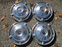 Genuine Factory 1968 Chevy Chevelle Malibu 14 Inch Hubcaps Wheel Covers