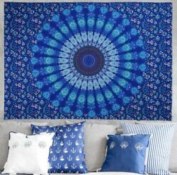 Mandala Flowers Bedding Tapestry Cloth Bohemian Peacock Wall Hanging Decorations