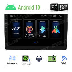 10.1 Android10 Car Stereo Gps Navi 2din Wifi Quad Core Radio Pip Eq Subwoofer