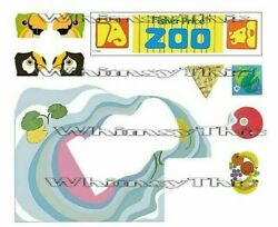 Vintage Fisher Price Little People #916 ZOO amp; FOOD TRAY LITHOS Sticker Decal