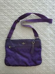 Big crossbody Coach Purple Bag $50.00