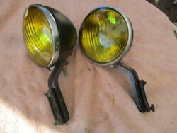 1934 - 1948 5 3/4 Guide / B-l-c Fog Lights With Mounting Brackets