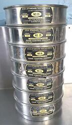 7 Fisher Sci Tyler Usa Standard 6, 8, 12, 14, 16, 25 And 35 Test Sieves Free Ship