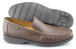 Menand039s Mephisto And039henriand039 Chestnut Brown Leather Loafers Size Us 8 Eur 7.5