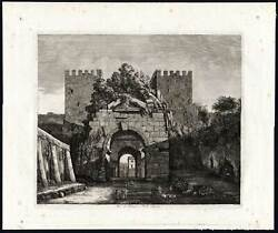 Antique Print-arch-drusus-rome-italy-appian Way-first Mile-rossini-1820