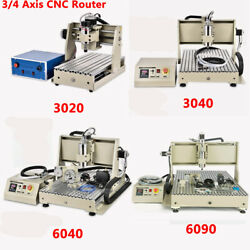Usb/parallel 3/4 Axis Cnc 3040 Router Mill Drill Engraving Machine 400w/800w Vfd