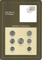 Coins Of All Nations - Indonesia - 7 Coin Set - 1970=1979 -  Coan 56