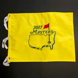 """2017 Masters Augusta National Golf Pin Flag Embroidered Yellow 17.5"""" X 13"""""""