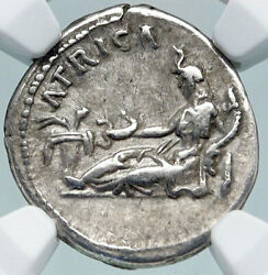 Hadrian Travels To Africa Authentic Ancient 134ad Silver Roman Coin Ngc I86954