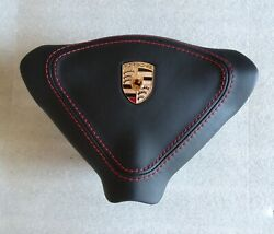 Porsche 996 C2 4 Turbo S Gt3 Rs Steering Wheel A - Bag Blk Leather Red Stitching