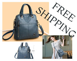 Multifunction Women Backpack Designer High Quality Leather Woman Bags $38.00