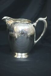 Gorham Sterling Silver 4 1/2 Pint Pitcher Monogrammed S W/ Floral Engraving