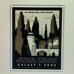 Disney Parks Star Wars Galaxyand039s Edge Attraction Poster Art Print 16 X 20 More