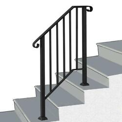 Handrail Picket Fits 2 or 3 Steps Mattle Black Wrought Iron Handrail Stair Rail