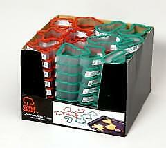 Christmas Cookie Cutter Shelf Display Case Pack 96