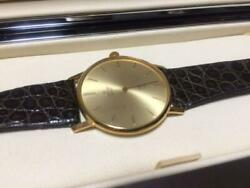 Concorde Menand039s Watch Quartz Working Product Gold Black Leather Antique Box