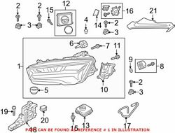 Genuine Oem Front Right Headlight Assembly For Audi 4g8941774m