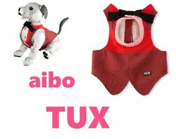 Sony Aibo Accessories Tuxedo Formal Wear For Girl Aibo Ai Dog Robbot Uniform Red